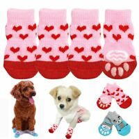 Puppy Cat Knit Anti-Slip Small Paw Protector Chihuahua Dog Shoes Pet Socks