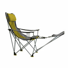 TravelChair Big Bubba Portable Outdoor Folding Camp Chair Seat & Footrest, Green