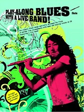 FLUTE PLAYALONG BLUES WITH A LIVE BAND Sheet Music Book & CD Backing Tracks