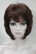 Hivision Dark Burgundy Short Women Ladies Daily Natural Full Wig FTLD152