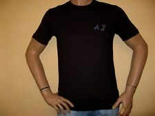 NEW TAGGED AUTHENTIC ARMANI MENS BLACK SHORT SLEEVE FITTED T-SHIRT X/LARGE 38/40