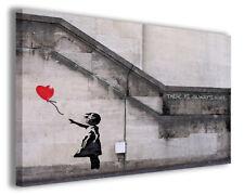 Quadri famosi Banksy IX stampe riproduzioni su tela copia falso d'autore