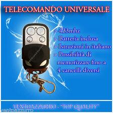 TELECOMANDO PER CANCELLO UNIVERSALE A 433,92 MHZ FAAC CAME NICE TASTI PERFETTI