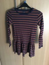 BNWT Girl's NEXT Blue & beige striped dress age 12 years