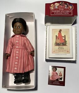 American Girl Mini Doll Addy 1993 w/Book, Org. Packaging, Opened.  Lovely Braid!