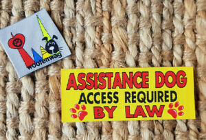 WOVEN Assistance  Dog Tag Patch