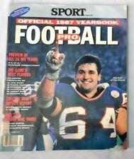 JIM BURT NEW YORK GIANTS  NFL YEARBOOK 1987 SPORT Magazine No label