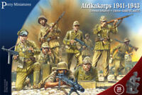 PERRY MINIATURES 28mm WWII German Infantry Afrika Korps 1941-43 38 Model Figures