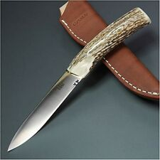 G Sakai Outdoor Gaucho Pampa Stag VG-1 Blade 126mm Fishing Knife with Case a14