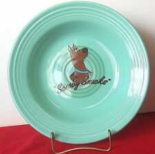 Fiesta Scooby Doo Snacks Soup Cereal Bowl Rimmed Large Sea Mist  Warner Brothers