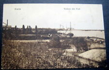 ROMANIA BRAILA  1917 view of undeveloped Port  FELDPOST  CANCEL WW1