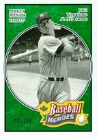 2005 UPPER DECK BASEBALL HEROES #163 - MICKEY MANTLE-EMERALD PARALLEL SP 100/199