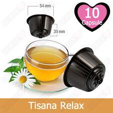 10 Capsule Cialde Tisana Relax in Foglie Compatibili NESCAFE DOLCE GUSTO