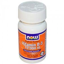 La vitamina D-3, 10,000 UI, 120 Cápsulas-Now Foods