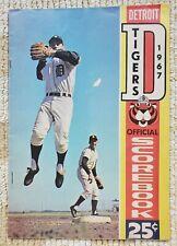 1967 Detroit Tigers baseball game program vs. Baltimore Orioles, Kaline, Cash