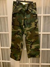 "US Military Army USAF Woodland Camo Cold Weather Goretex Trousers 29 1/2"" X 32"