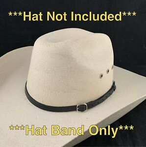 🌟Black Genuine Leather Hat Band For Western Cowboy Hats, Men, Women, Adult Size