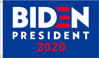 2020 Joe Biden Flag elect president 3'x5' with 2 Brass Grommets Blue Big Sale LO