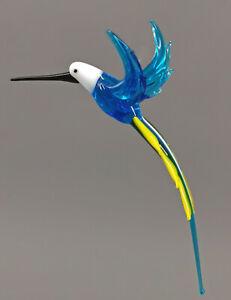 9912158-x Glas Figur Kolibri bunt fliegend zum Hängen 5x9cm mundgeblasen
