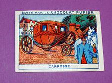 LES MOYENS DE LOCOMOTION LE CARROSSE CHROMO CHOCOLAT PUPIER JOLIES IMAGES 1930