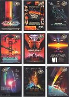 Star Trek Cinema 2000 Movie Poster  9  Chase Card Set    P1 to P9