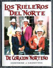 RIELEROS DEL NORTE * Double CASSETTE * De Corazon Norteño * New Sealed TAPE