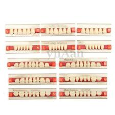 3 Set of 84*1 Acrylic Resin Denture Teeth VITA Color A2 Upper Lower Shade Dental