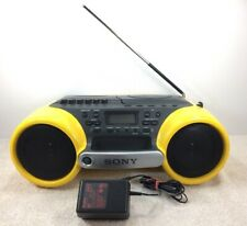 Sony Boombox CFD-980 ESP Sports Water Resistant CD Radio Cassette Yellow