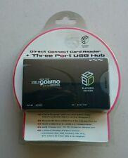 BLACK Box USB multi card reader AUTO-alimentato SD CF CARD 3X USB Windows + Mac