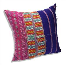 Authentic Karen Hilltribe fabric Cushion, Large 50cm, KC14, Handmade in Thailand