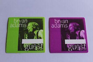 Bryan Adams - 2 x Backstage Pass - Guest  - FREE POSTAGE -