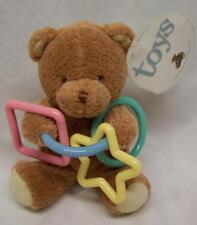"Prestige Baby BROWN TEDDY BEAR WITH TOYS 5"" Plush STUFFED ANIMAL Toy NEW"