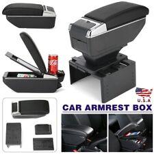 Universal Car Center Armrest Console Storage Organizer Box Cup Holder Us Fits Mazda