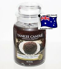 YANKEE CANDLE ** Cappuccino Truffle ** LARGE GLASS JAR ** 150 HOUR CANDLE