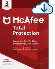 McAfee Total Protection 2019 Antivirus for Windows - 3 PC, 1 Year