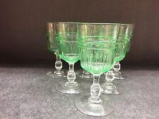 6 verres à vin taillés biseaux en cristal URANE - OURALINE .H:108 mm cont: 10 cl