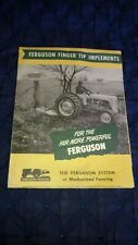 Ferguson Tractor Finger Tip Implements Brochure Manual