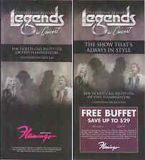Michael Jackson Flyer LEGENDS IN CONCERT Las Vegas Theatre PROMO Brochure PLV