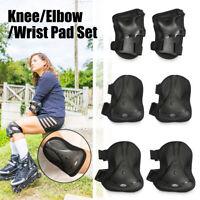 Adult Knee Elbow Wrist Guard Pads Protectors Set For Skating Skateboard  *