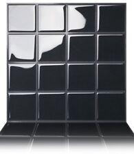 Tic Tac Tiles® - Premium 3D Peel & Stick Wall Tile in Square Black (5 sheets)