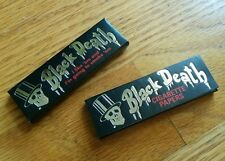 2 Vintage Rare Black Death Cigarette Papers 2x50 Leaves Smoking Tobacco Rolling
