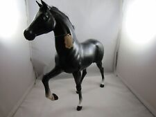 "Vintage 1980 Mattel Black Horse- Short Mane- Brushable Hair- Barbie ~ 10"" x 11"""