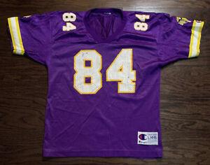 Vintage Randy Moss 84 Minnesota Vikings NFL Football Champion Jersey Youth Large