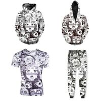 Ahegao Funny Emoji Anime Cosplay 3D T-shirt Men Pullover Hoodie Zip Jacket Tops