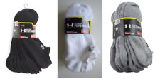 6 PAIR UNDER ARMOUR PERFORMANCE MEN'S NO SHOW SOCKS SIZE 9 - 12.5 VARIETY COLOR