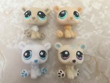Littlest Pet Shop RARE Polar Bear #1000 647 470 759 Christmas Lot