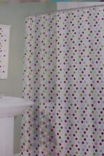 13 pc Splash Bath Multi Dotted Shower Curtain and Hooks Set NIP