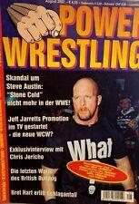 Power Wrestling August 2002 WWE WWF WCW + 4 Poster (Jarrett, Rikishi, Hogan)