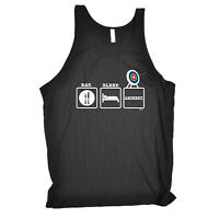 Funny Novelty Vest Singlet Top - Eat Sleep Archery