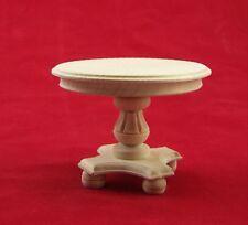 Runde Tisch aus Lindenholz, unbehandelt. Für 1:12 Puppenstuben 6x8 cm.
